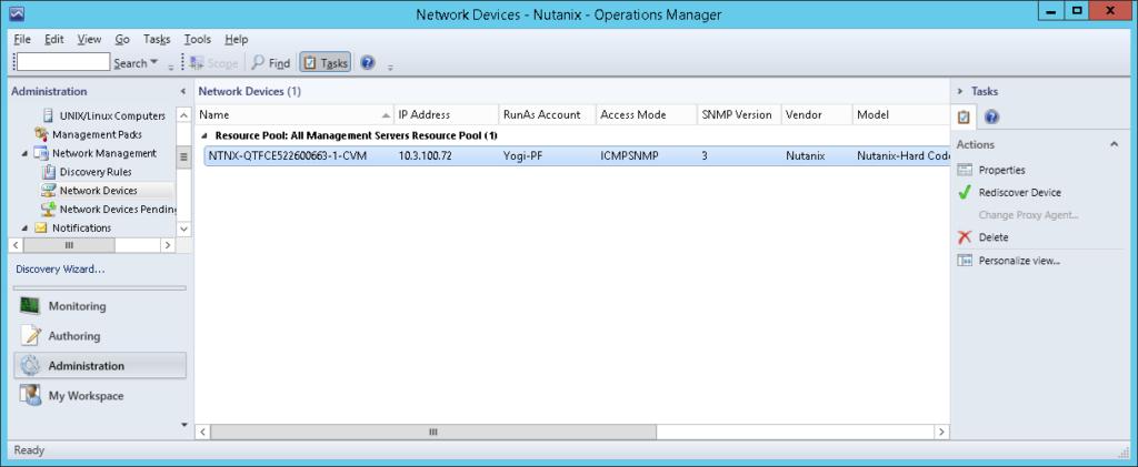 SCOM19 Nutanix SCOM Management Pack